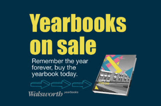 Yearbooks on sale