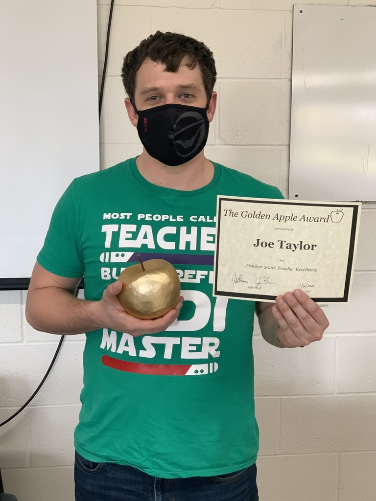 Joe Taylor October Golden Apple award winner.