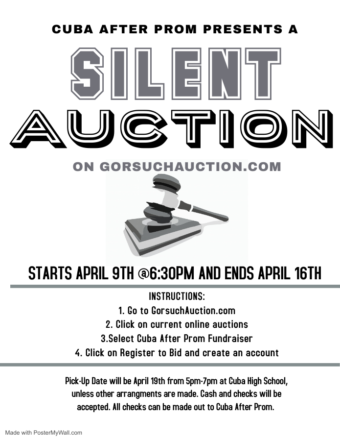Cuba After Prom Presents a Silent Auction on Gorsuchauction.com