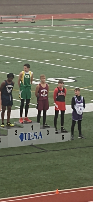 Andrew White 5th place 100m dash