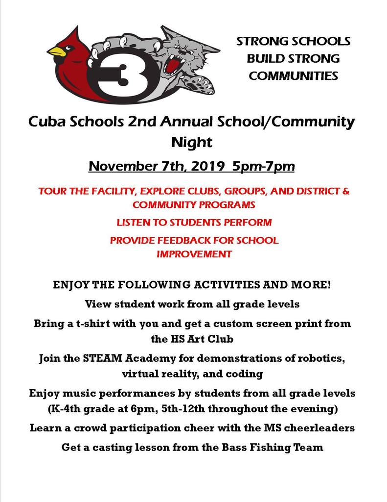 School community night flyer