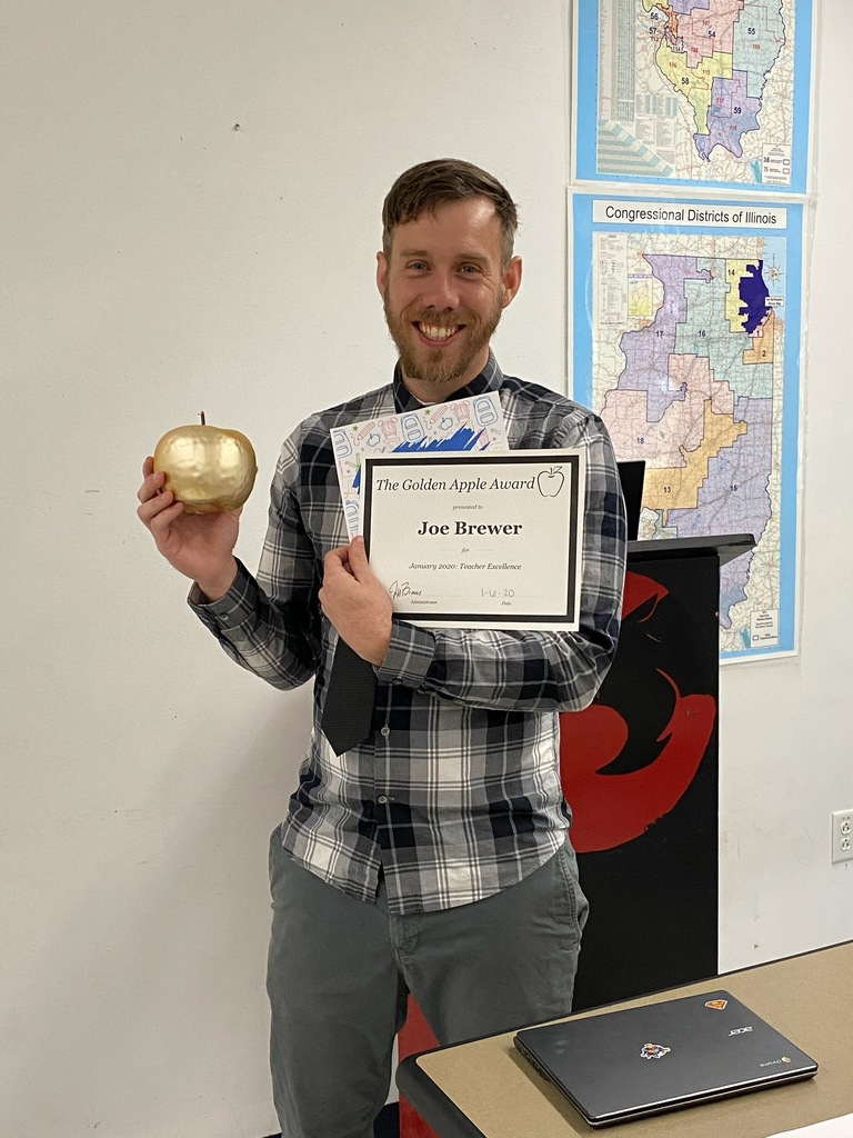 Joe Brewer Golden Apple Winner
