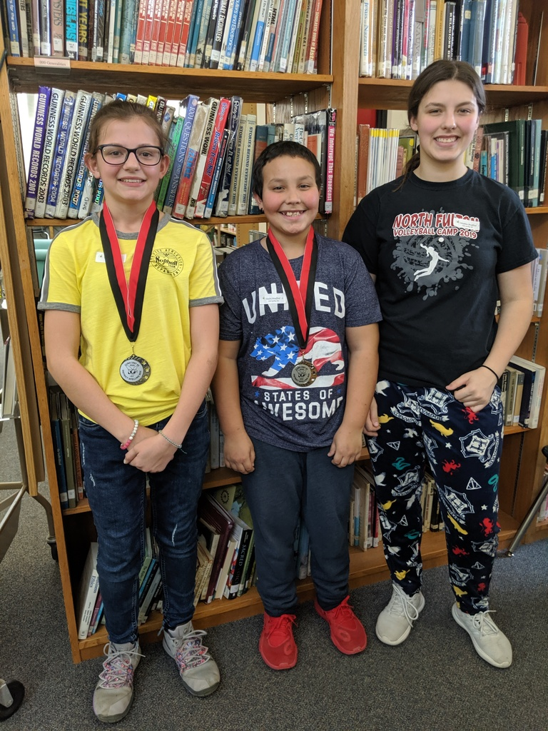 Spelling Bee Winners: 1st Kacie White, 2nd Dalen Bradford, Alternate Washita Bradford
