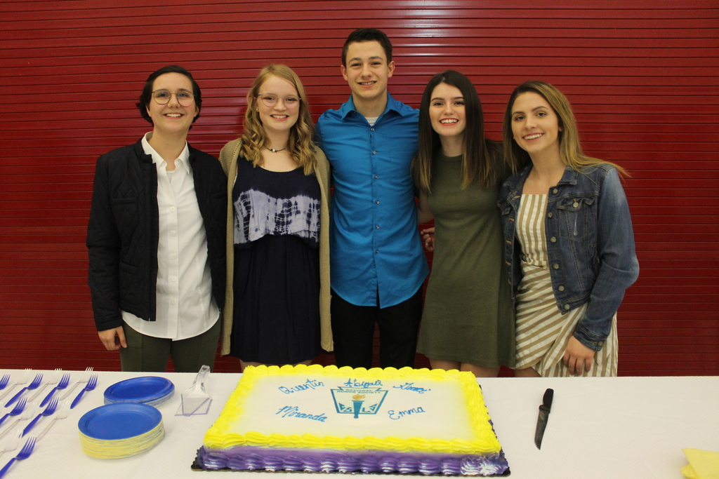 New NHS Inductees at Cuba High School
