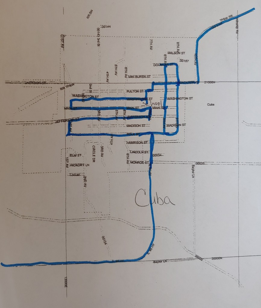 CUSD3 parade route for Cuba