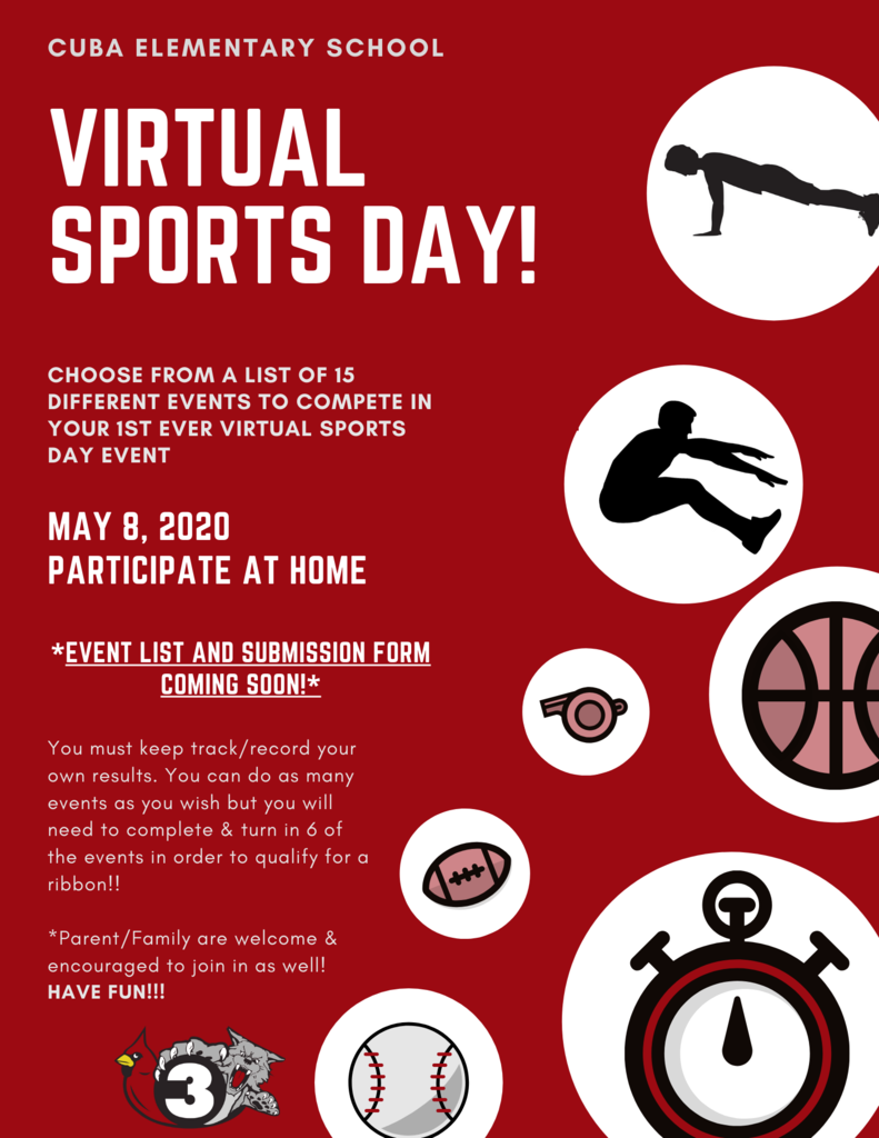 Virtual Sports day flyer